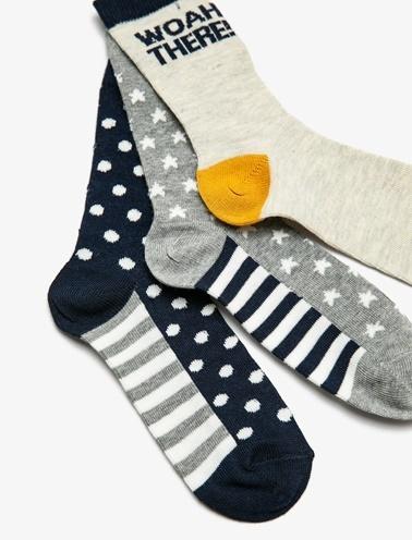 Koton Kids 3'lü Çorap Renkli